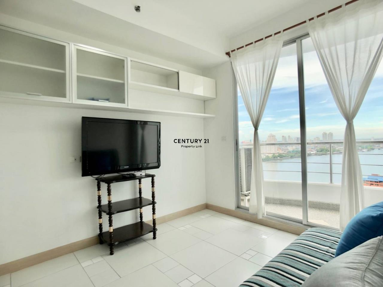Century21 Property Link Agency's 38-CC-61336 Supalai River Place Condominium  Fully Furnished High level view Chao Phraya River near BTS Krung Thon Buri  2