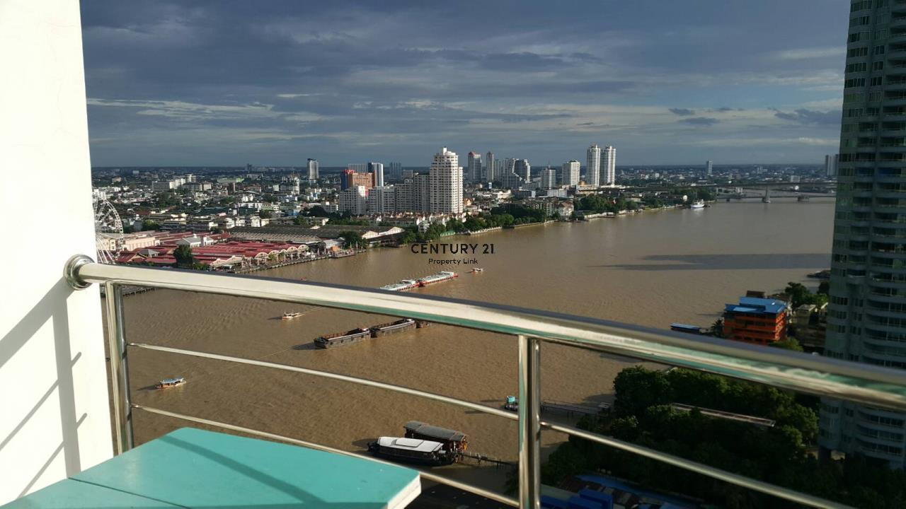Century21 Property Link Agency's 38-CC-61462 Room for Rent Supalai River Place View Chao Phraya River shopping center near BTS Krung Thon Buri 8