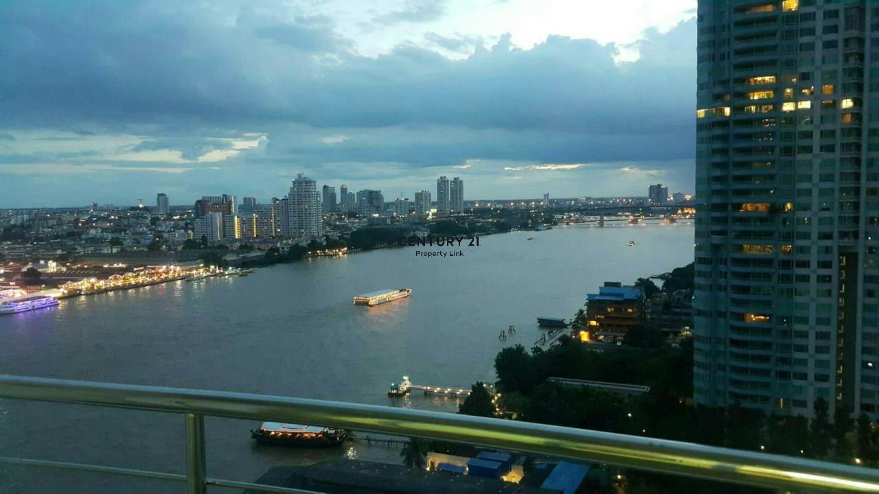 Century21 Property Link Agency's 38-CC-61537 Supalai River Place Condominium  Fully Furnished High level view Chao Phraya River near BTS Krung Thon Buri  8