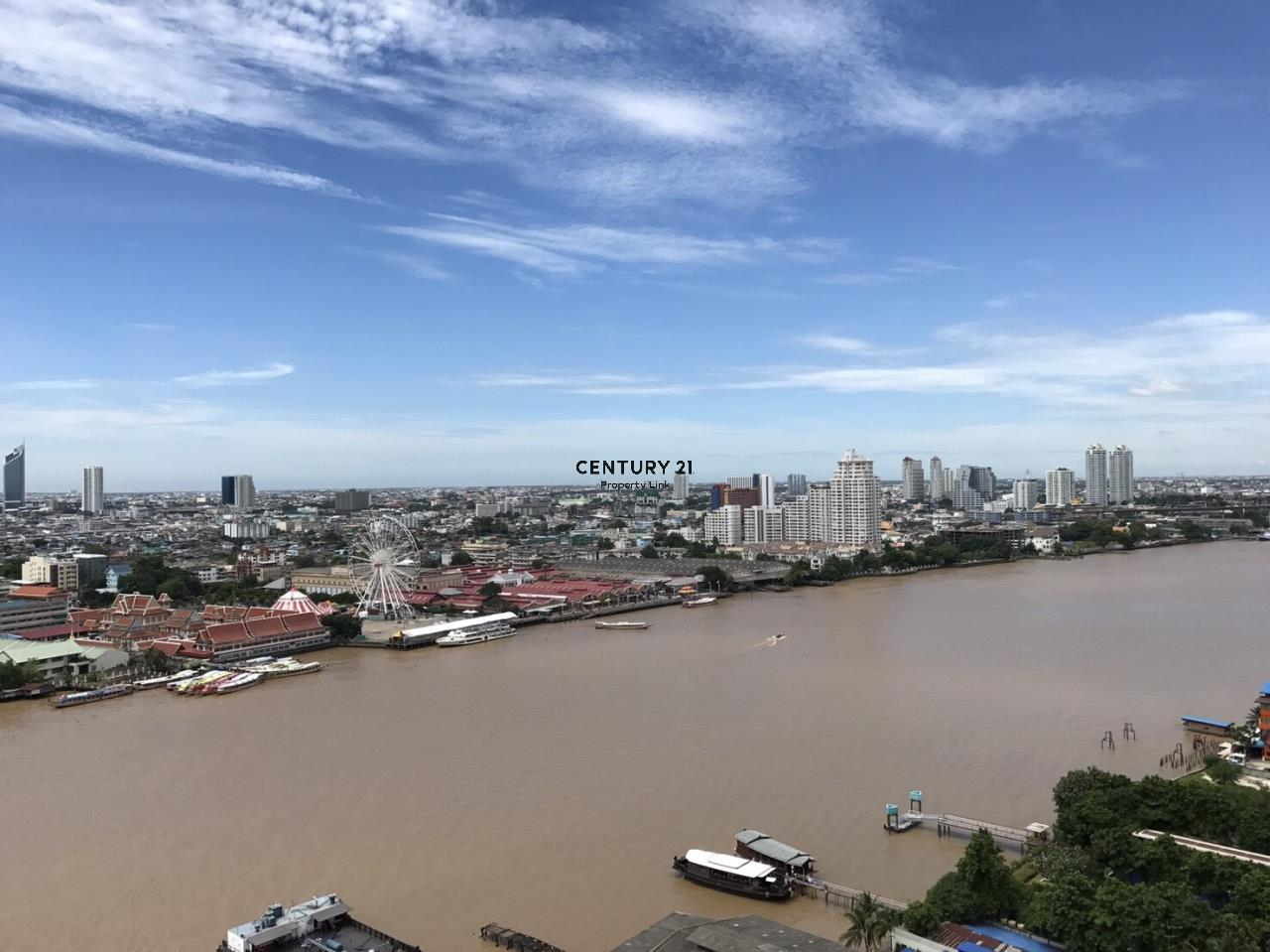 Century21 Property Link Agency's 38-CC-61573 Sale or Rent Supalai River Place High floor Sathorn view near BTS Krung Thon Buri 5