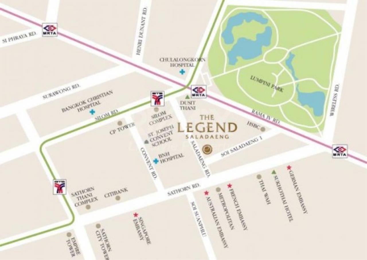 RE/MAX LifeStyle Property Agency's The Legend Saladaeng 1