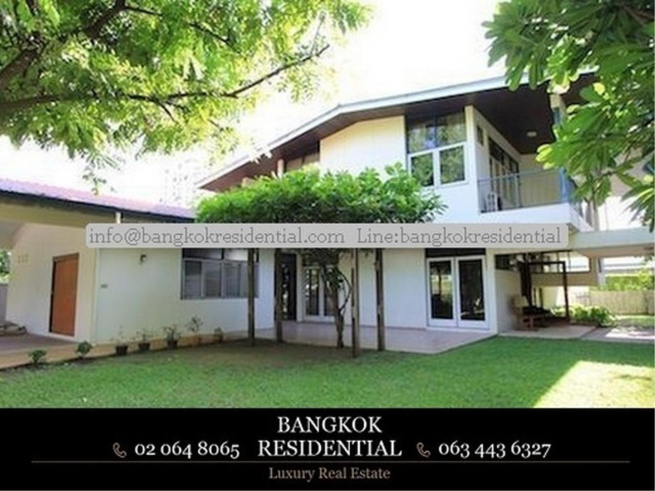 Bangkok Residential Agency's 3 Bed Single House For Rent in Nana BR7742SH 1