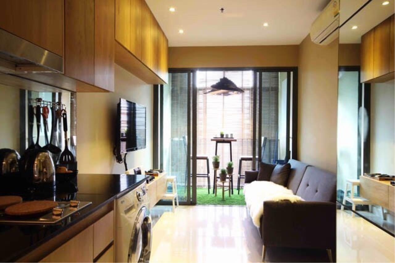 Agent - Prombood Agency's Sale - 1 Bedroom 35 sq.m. Ideo Blucove Sukhumvit near Udomsuk BTS Station 7