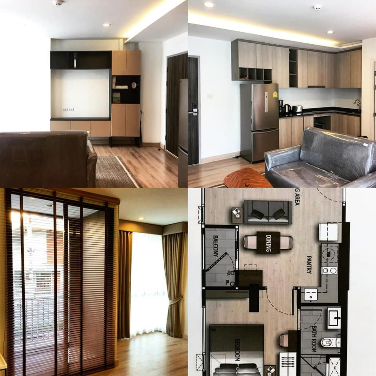 Agent - Prombood Agency's Sale - 1 Bedroom 36.5 sq.m. The Unique 19 near Ratchadapisek and Ladprao MRT Station 7