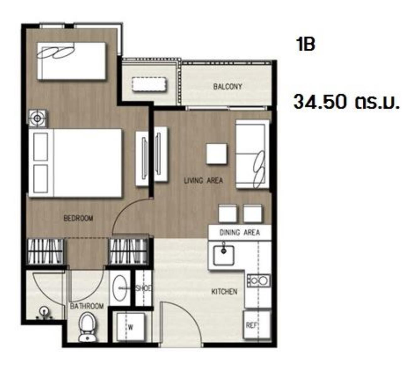 Agent - Prombood Agency's Sale with tenant - 1 Bedroom 35 sq.m. Ceil by Sansiri near Ekkamai BTS Station 19