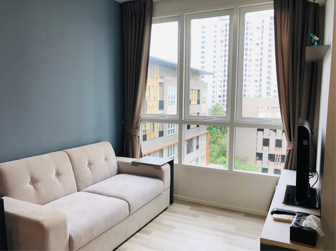 Agent - Prombood Agency's Sale - For Rent 1 Bedroom (Corner Unit) 31.95 sq.m. The Key Sathorn-Ratchapruek near Wutthakat BTS Station 7