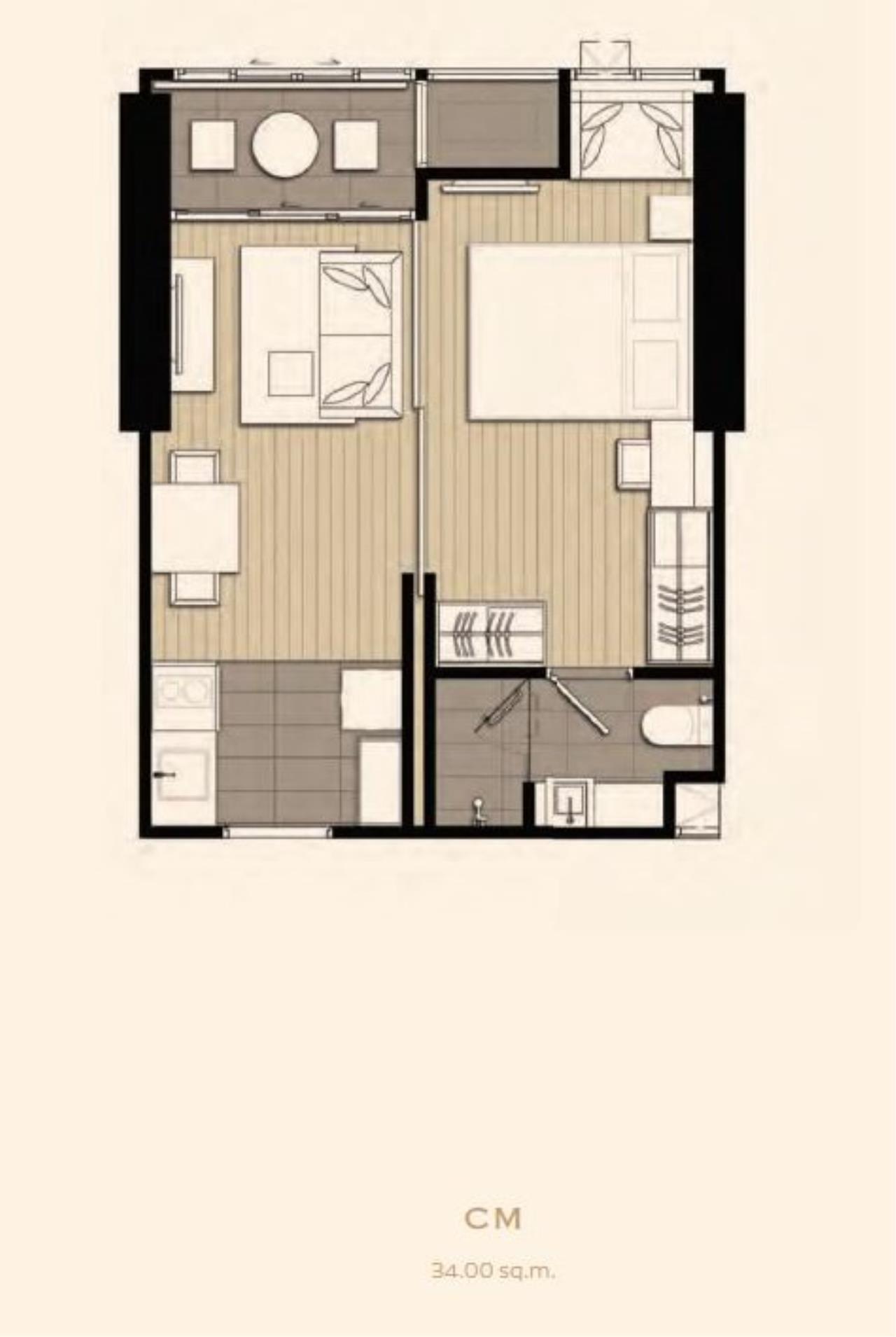 Landscope Thailand Agency's Ashton Asoke 41st floor 34.5 sq.m. 1-bedroom for sale 4