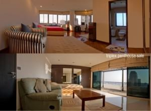BKK Condos Agency's 6 bedroom triplex penthouse for sale at Moon Tower  3