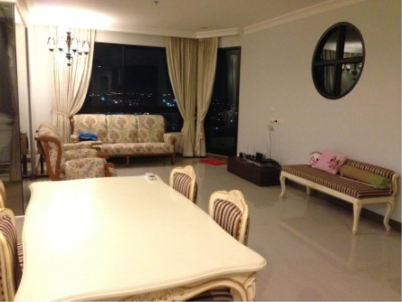 BKK Condos Agency's Nice two bedroom condo with city view at Supalai Casa Riva 2