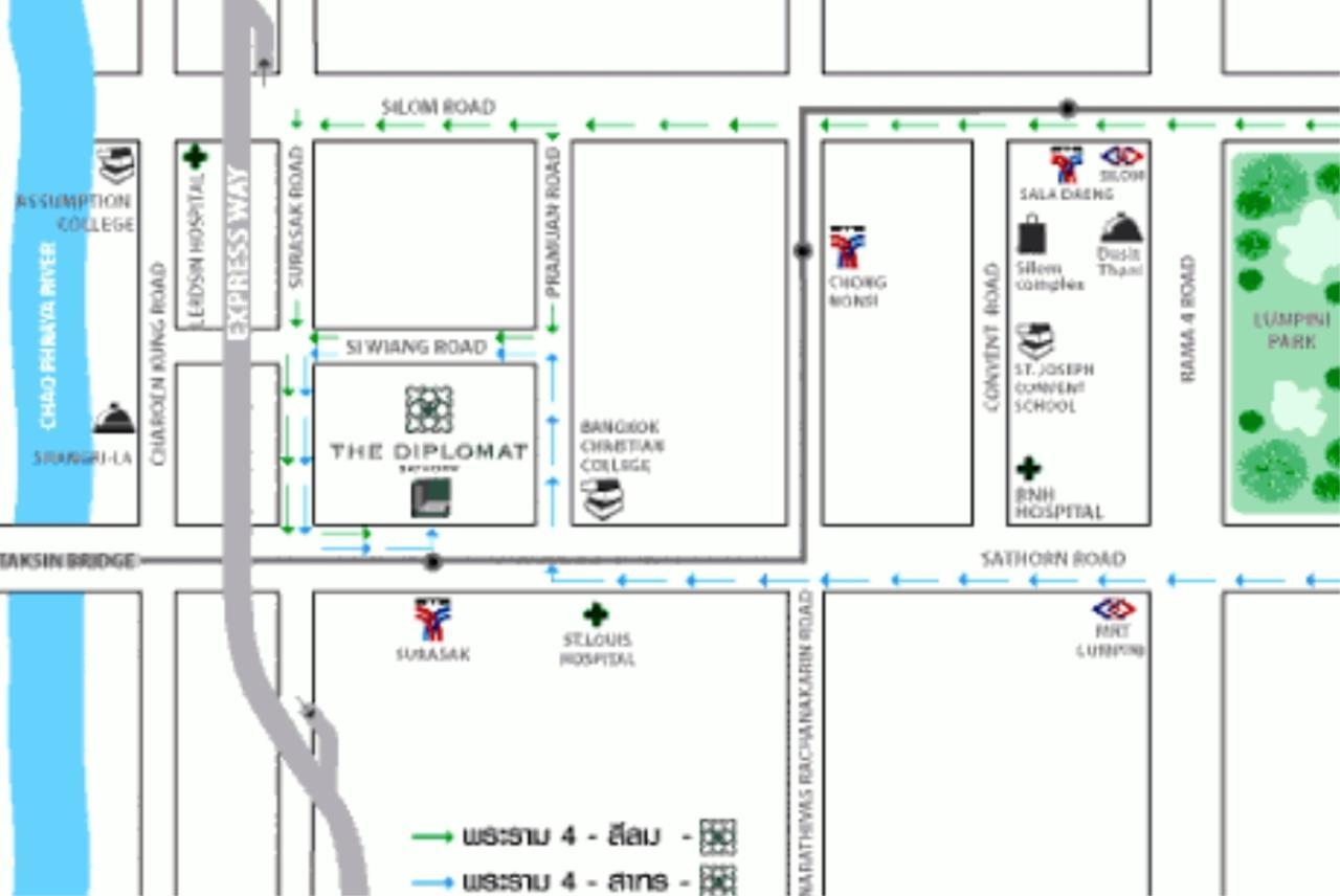 Arken Estate Agency Property Agency near BTS & MRT Agency's Diplomat Sathorn 1 bed 1 bath 4