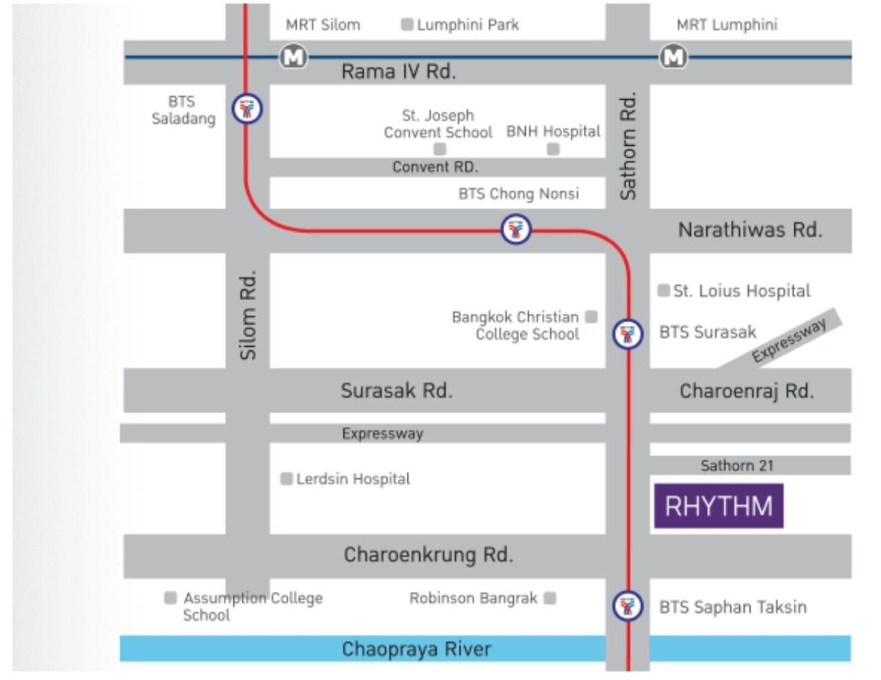 Arken Estate Agency Property Agency near BTS & MRT Agency's Rhythm Sathorn 21 2 bed 2 bath 6