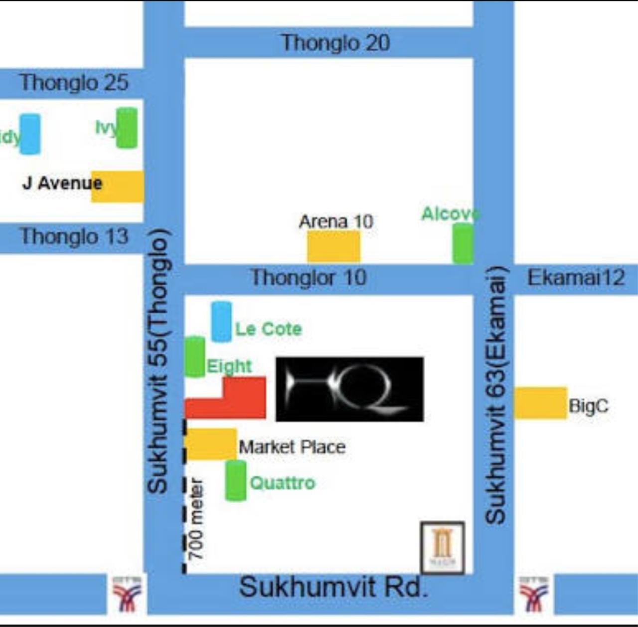 Arken Estate Agency Property Agency near BTS & MRT Agency's HQ Thonglor..Duplex 1 bed 2 bath 4