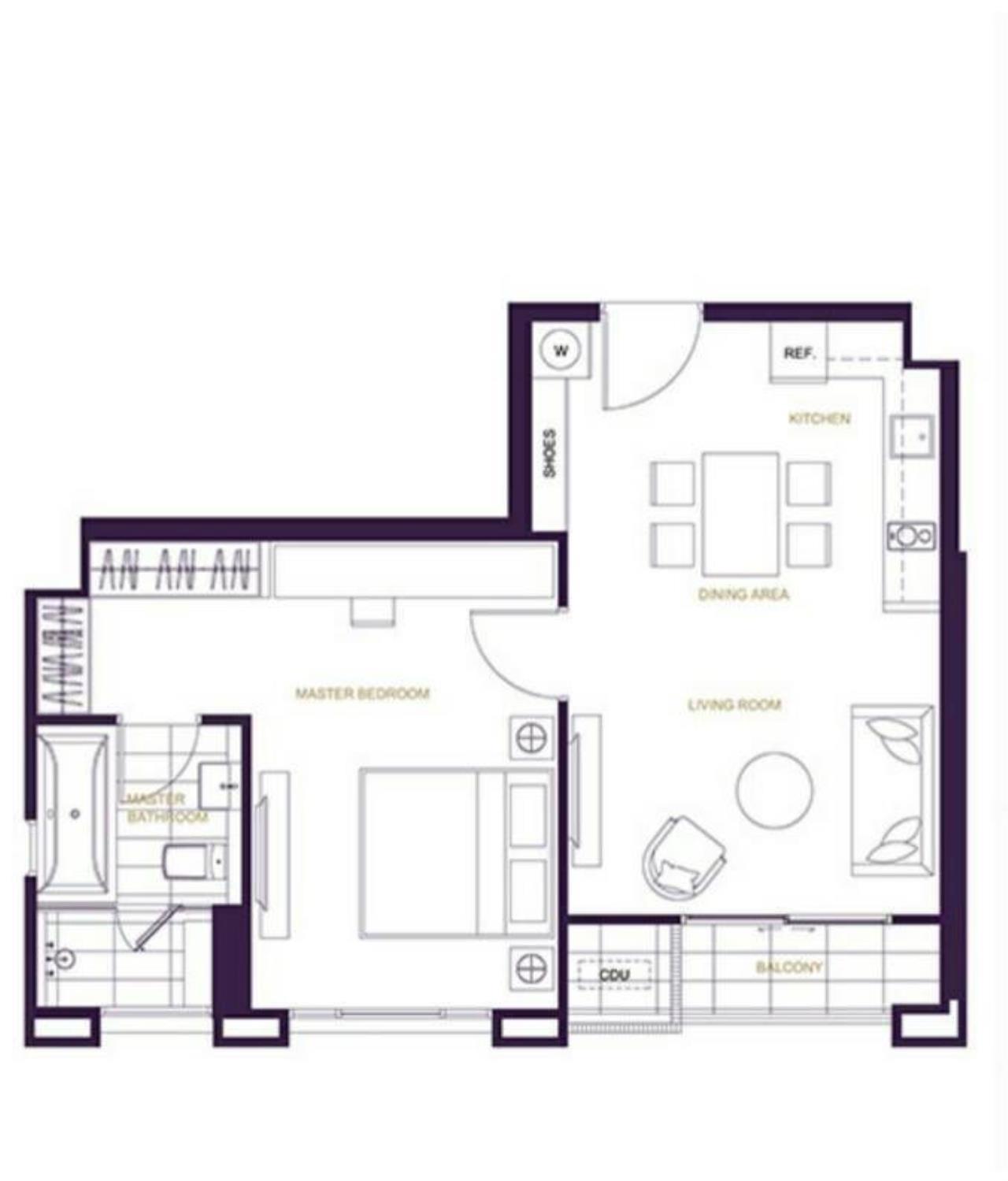 Arken Estate Agency Property Agency near BTS & MRT Agency's XXXIX by Sansiri 1bedroom 58sqm good price 11