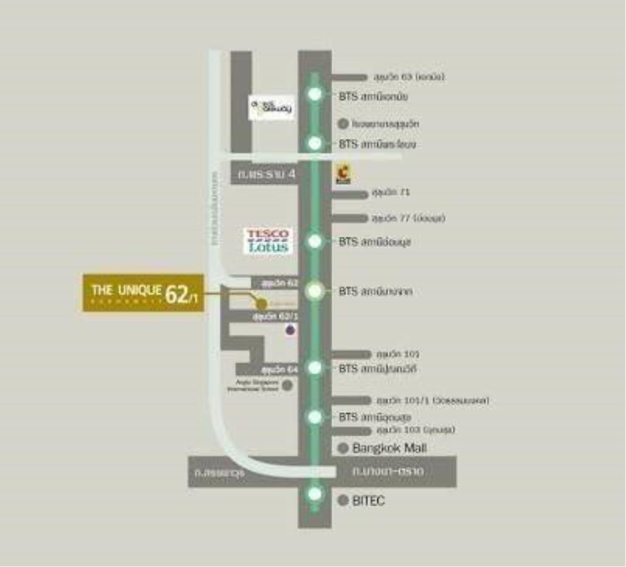 Arken Estate Agency Property Agency near BTS & MRT Agency's For Rent..The Unique Sukhumvit 62/1 5