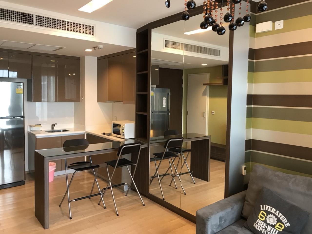 Arken Estate Agency Property Agency near BTS & MRT Agency's For Rent Siri at Sukhumvit 38, 1 bed 1 bath+tub 4
