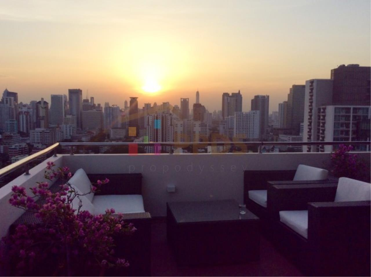 Propodyssey Agency's Duplex Penthouse with a large balcony and city is available for rent on Promphong Area. 2