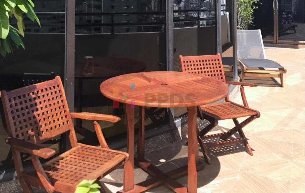 Propodyssey Agency's Duplex Penthouse with a large balcony and city is available for rent on Promphong Area. 5