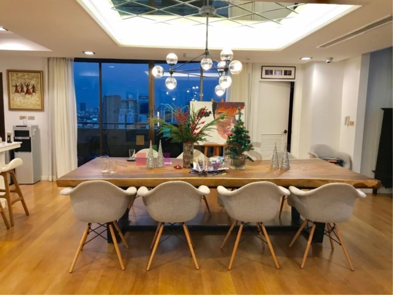 Propodyssey Agency's Duplex Penthouse with a large balcony and city is available for rent on Promphong Area. 21