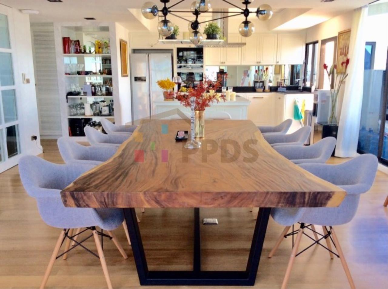 Propodyssey Agency's Duplex Penthouse with a large balcony and city is available for rent on Promphong Area. 22