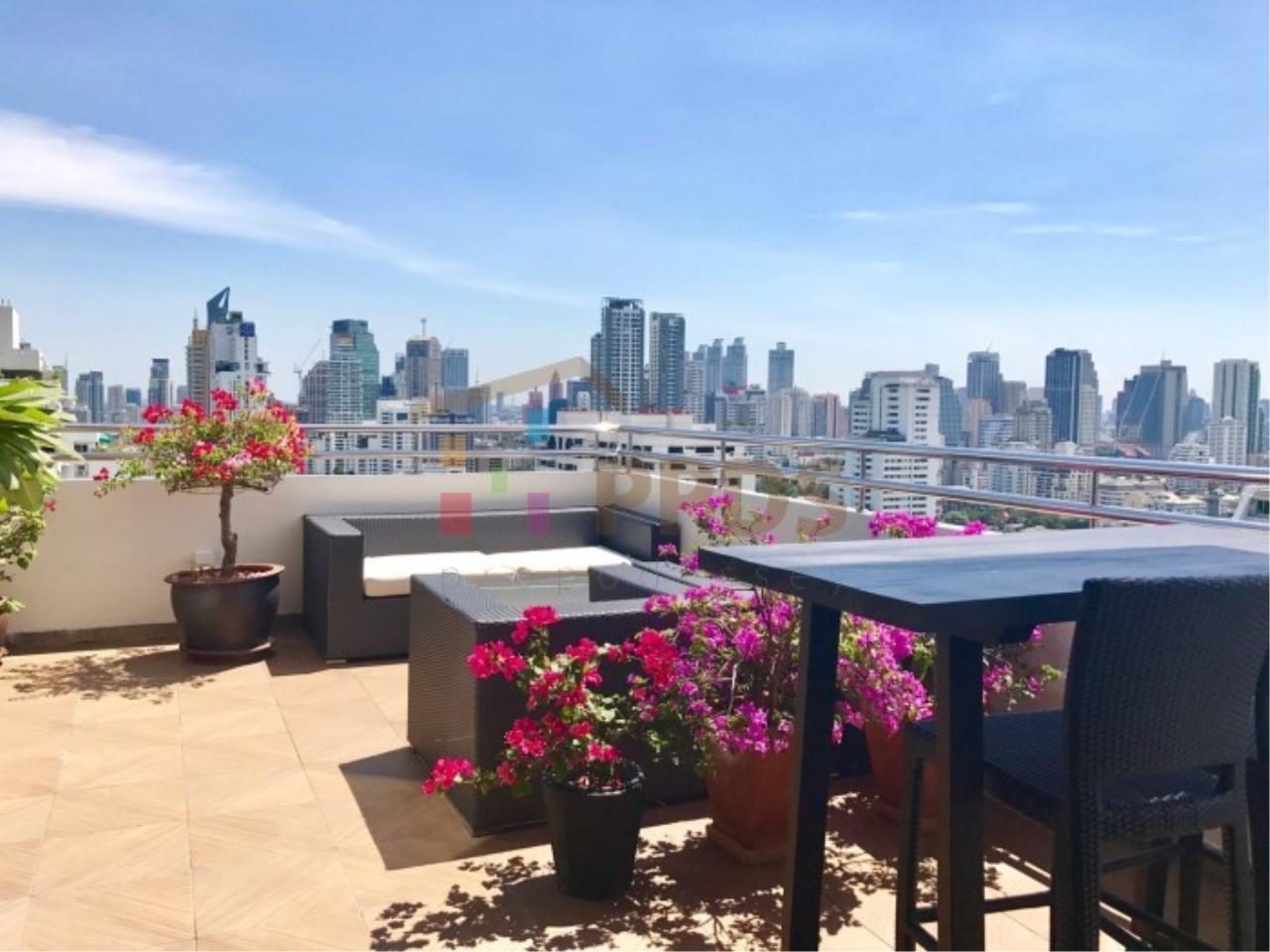 Propodyssey Agency's Duplex Penthouse with a large balcony and city is available for rent on Promphong Area. 24