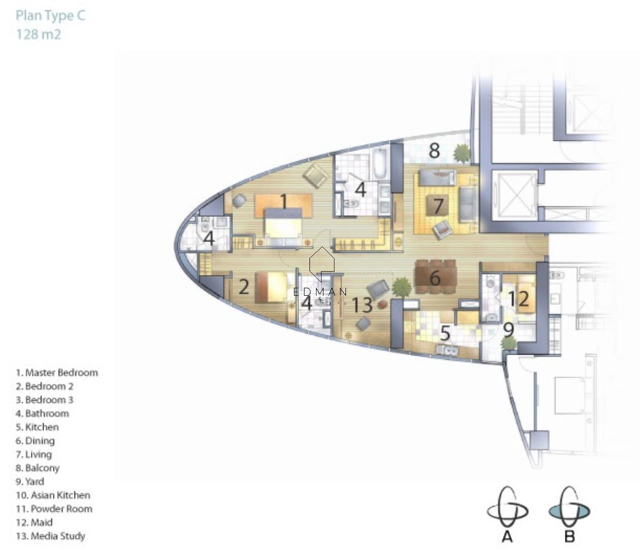 Edman & Partners Co.,Ltd. Agency's Millennium  2 bed  for rent 11