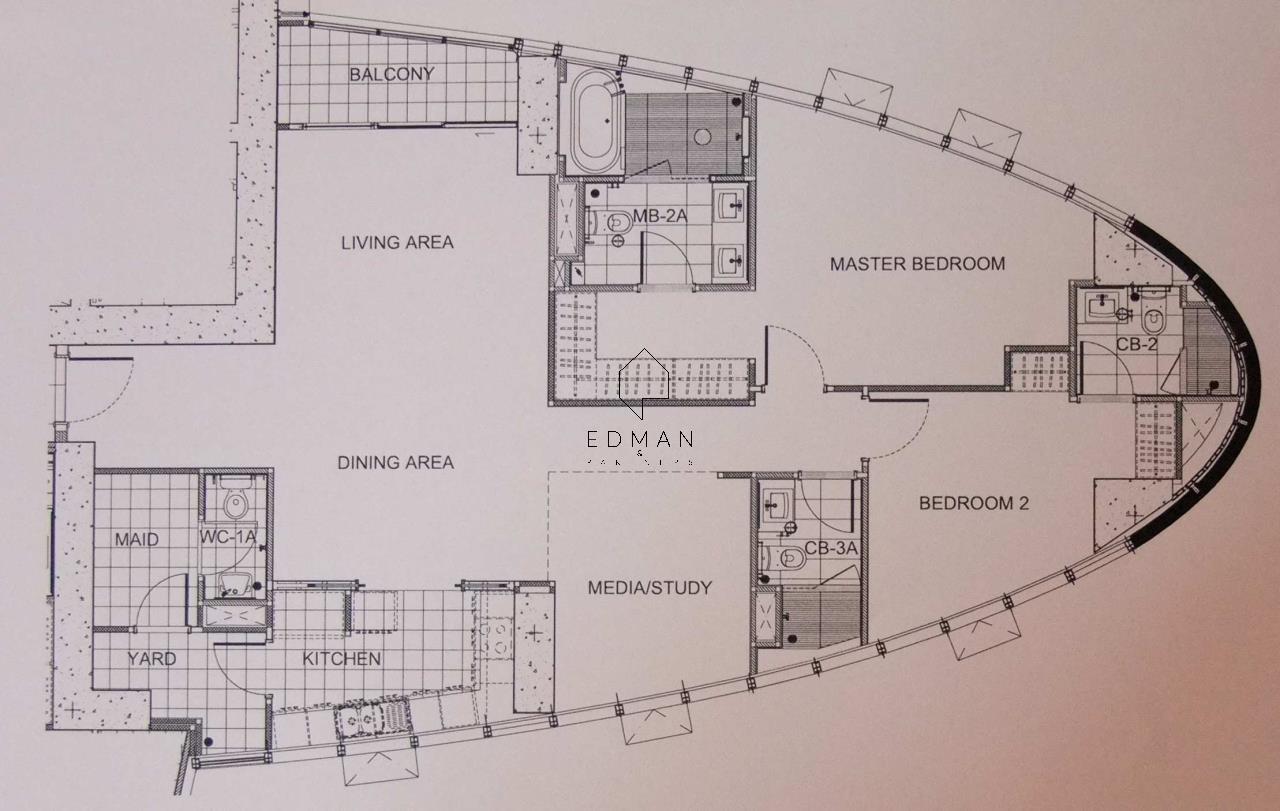 Edman & Partners Co.,Ltd. Agency's Millennium  2 bed  for rent 12