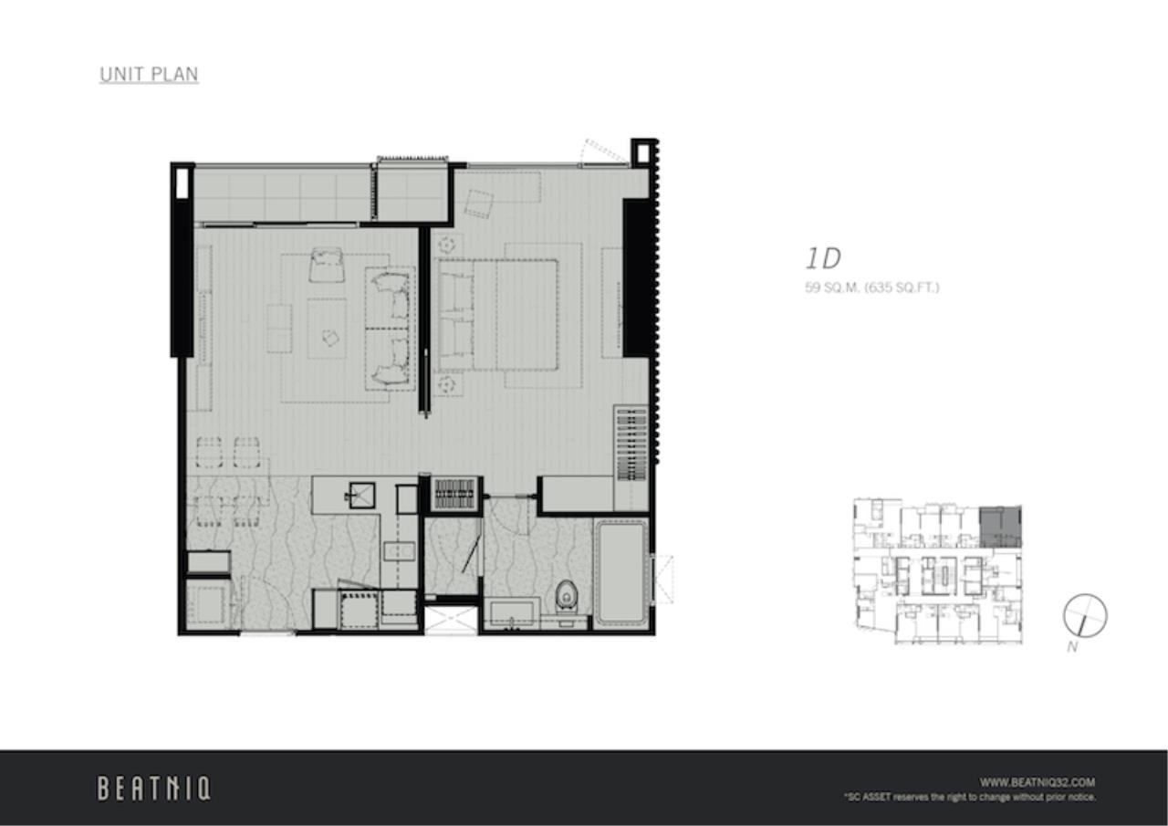 Agent- Mark Naraed Wiedenmann Agency's For Sale - Beatniq Sukhumvit 32 (1-bedroom) 11