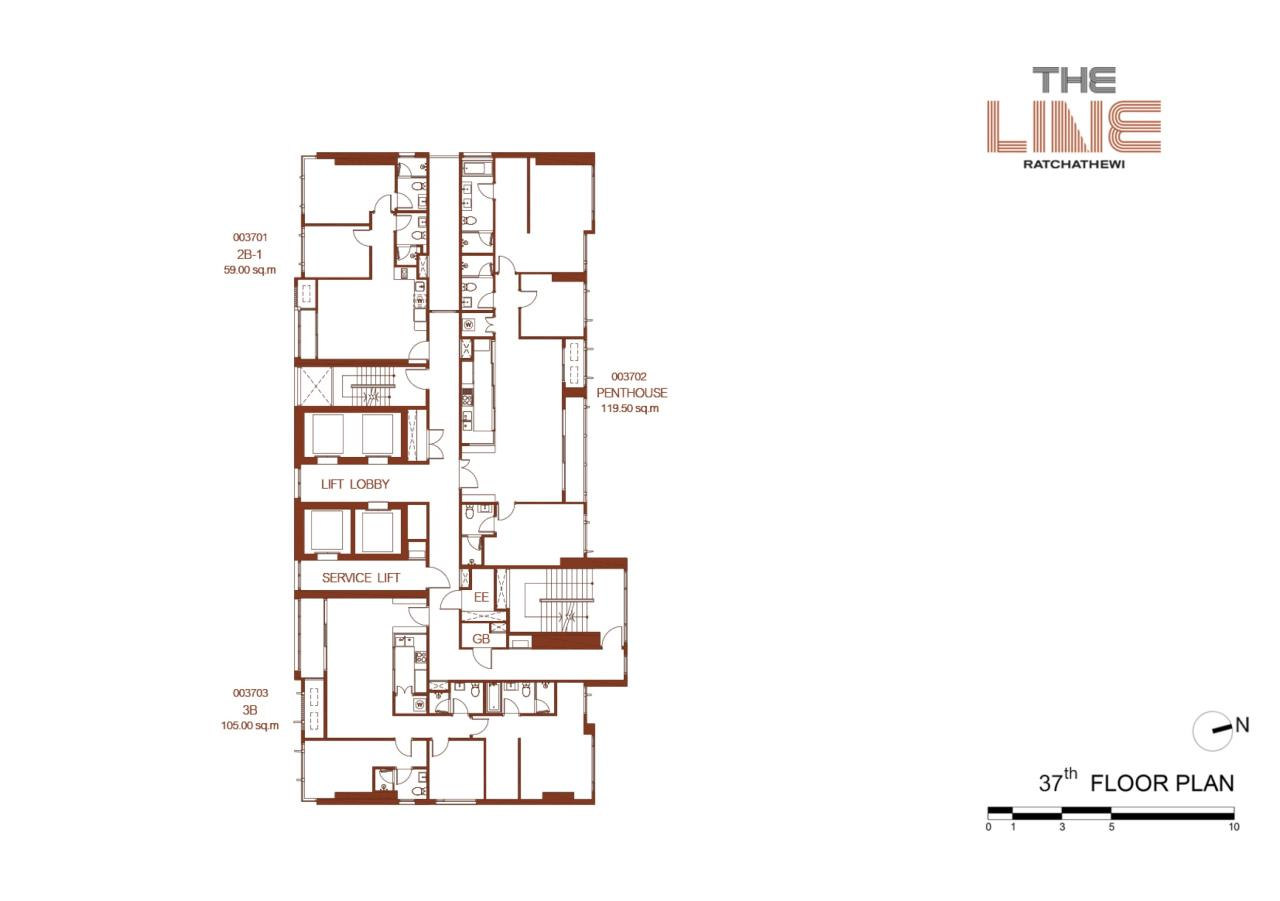 Agent- Mark Naraed Wiedenmann Agency's For Sale - The Line Ratchathewi (Penthouse) 7
