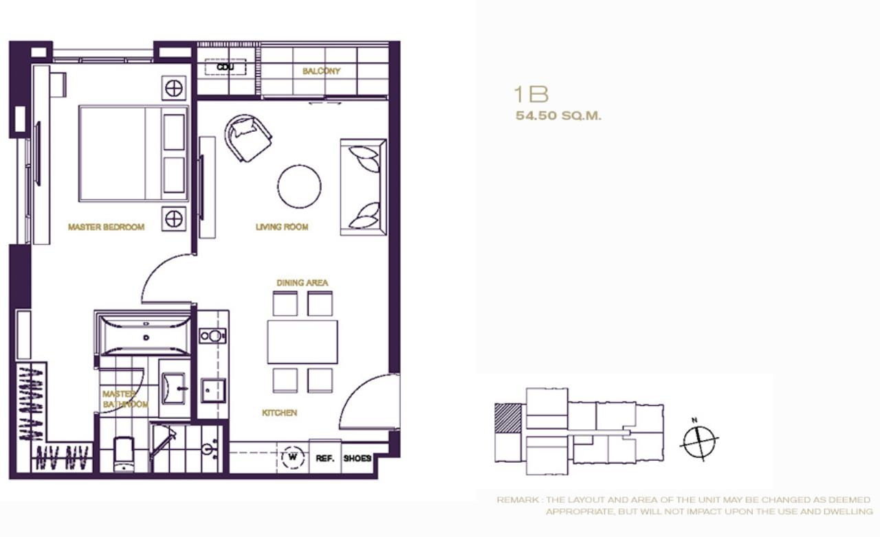 Agent- Mark Naraed Wiedenmann Agency's Rent/Sale - The XXXIX by Sansiri (1-bedroom) 9