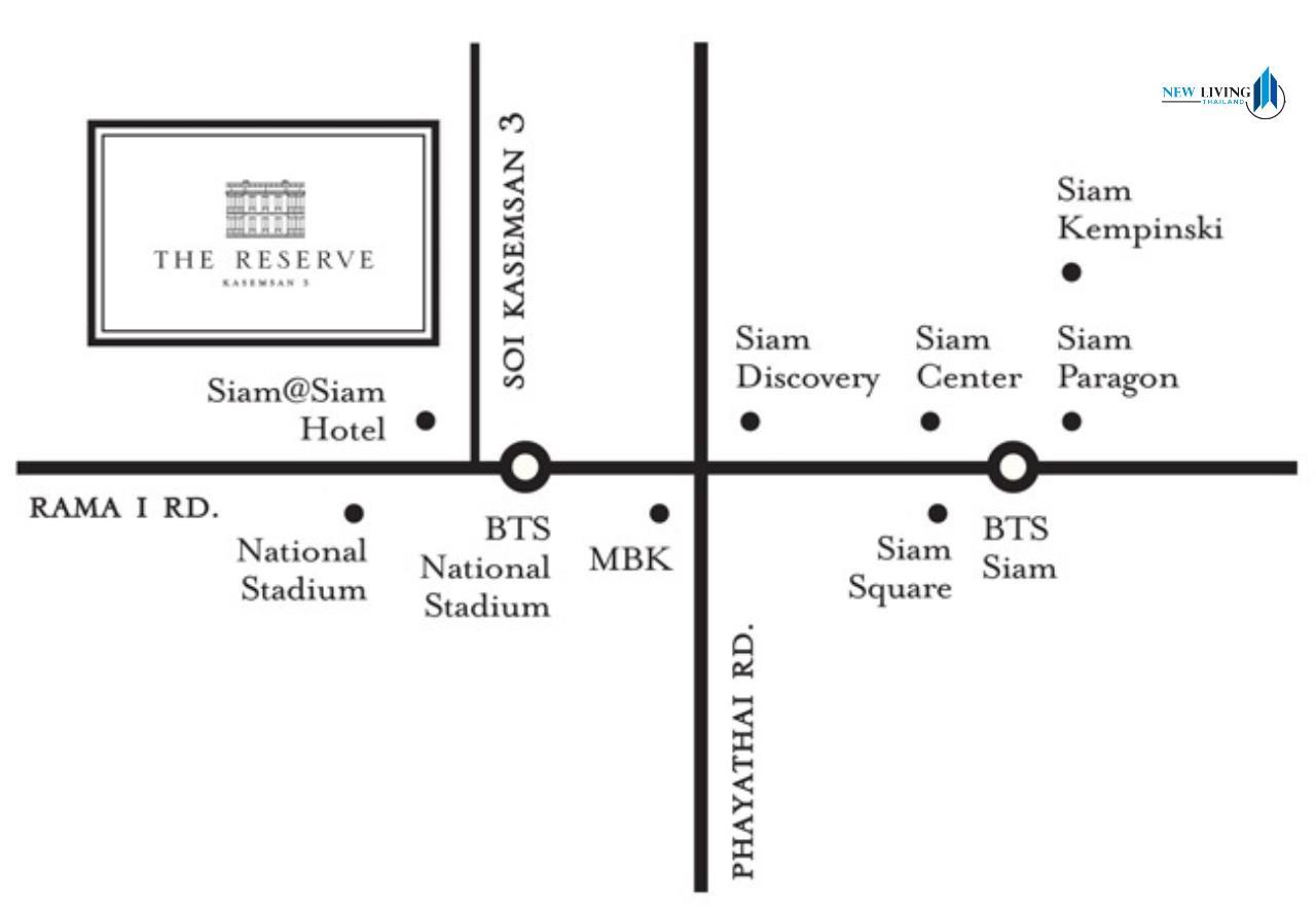 New Living Thailand Agency's >>> For RENT !! <<  The Reserve Kasemson 3 ** next to BTS National Stadium, Studio, 29 sq.m., Corner room 14