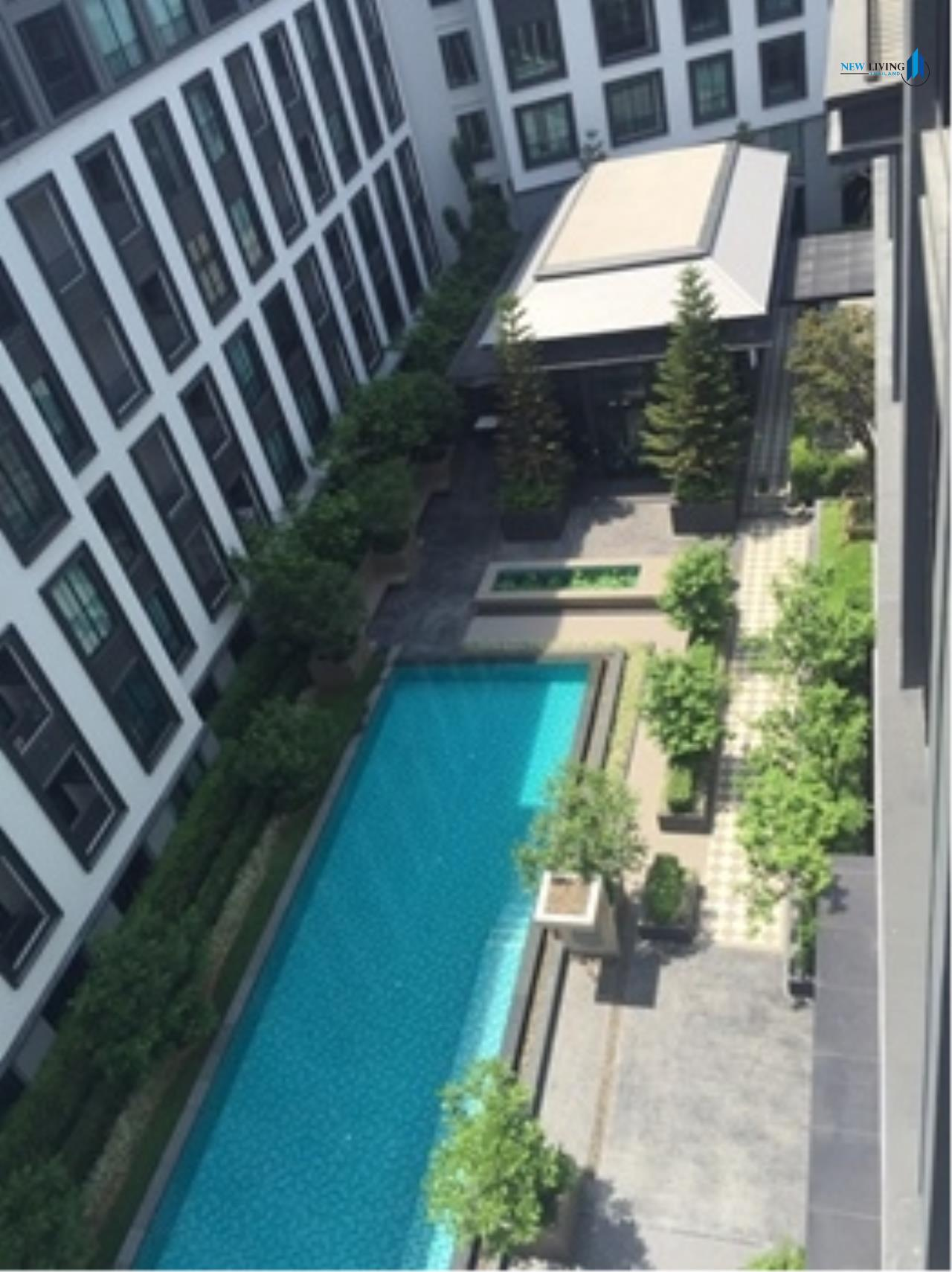New Living Thailand Agency's >>> For SALE !! <<  The Reserve Kasemson 3 ** next to BTS National Stadium, 1 bedroom, 40 sq.m., pool view 12