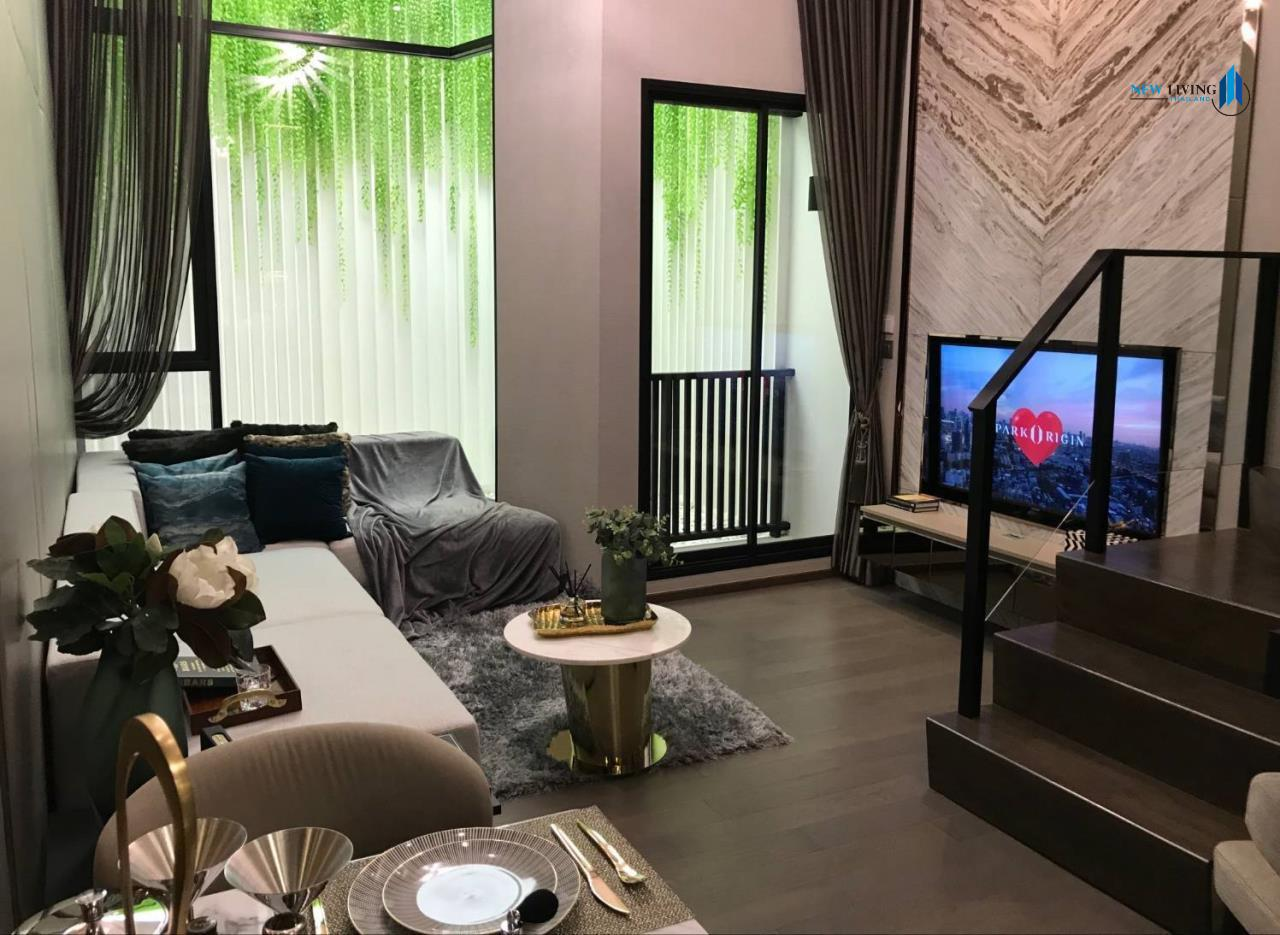 New Living Thailand Agency's Sell Down Payment, Park Origin Ratchathewi ** 1 Deplex 34 sq.m. high floor near BTS Ratchathewi 3