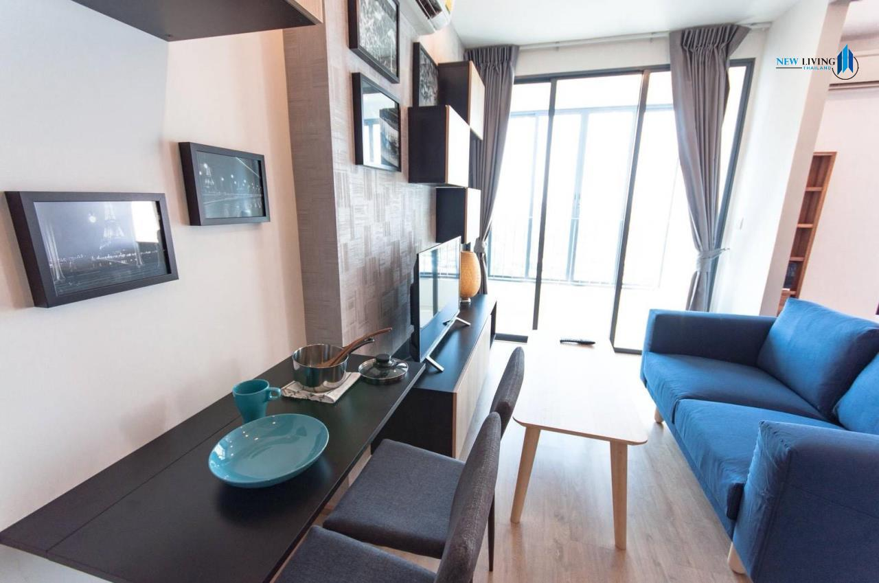 New Living Thailand Agency's **** Urgent rent !!! Ido Q Chula Sam-yan, 1 bedroom 34 sq.m. fully furnished, beautiful high floor **** 2