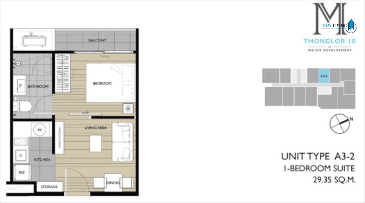 New Living Thailand Agency's *** Urgent Sale M Thonglor 1 Bedroom 29.8 sq.m. **** 7