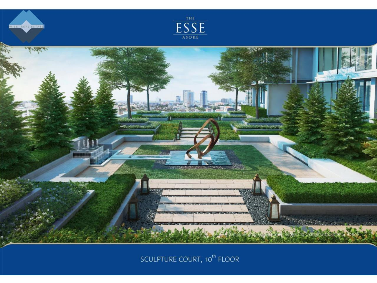 Wise Real Estate and Consultancy Agency's 1 Bedroom - The Esse Asoke 7
