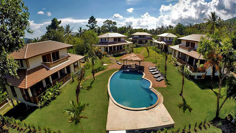 "RE/MAX Island Real Estate Agency's Garden ""Five"" Pool Villa Residence Location: Lamai: Mountain Side location with stunning scenic and sea views. Ref:0123V-LM 2"