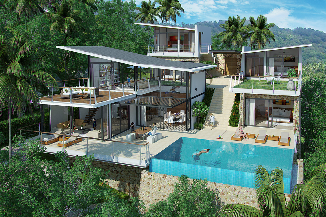 RE/MAX Island Real Estate Agency's Exclusive 11 home sea view development in Bophut Hills 1