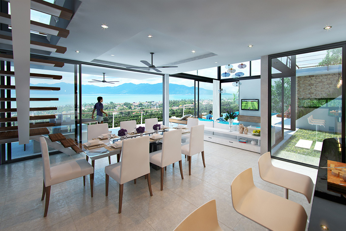 RE/MAX Island Real Estate Agency's Exclusive 11 home sea view development in Bophut Hills 3