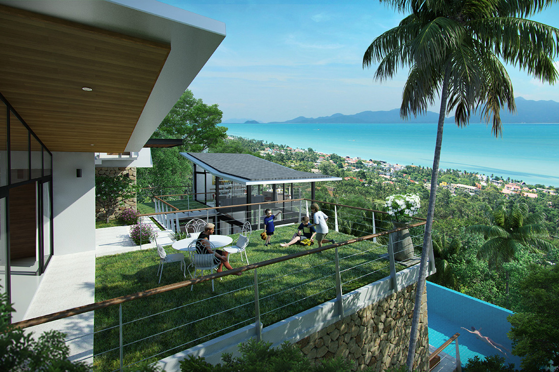RE/MAX Island Real Estate Agency's Exclusive 11 home sea view development in Bophut Hills 4