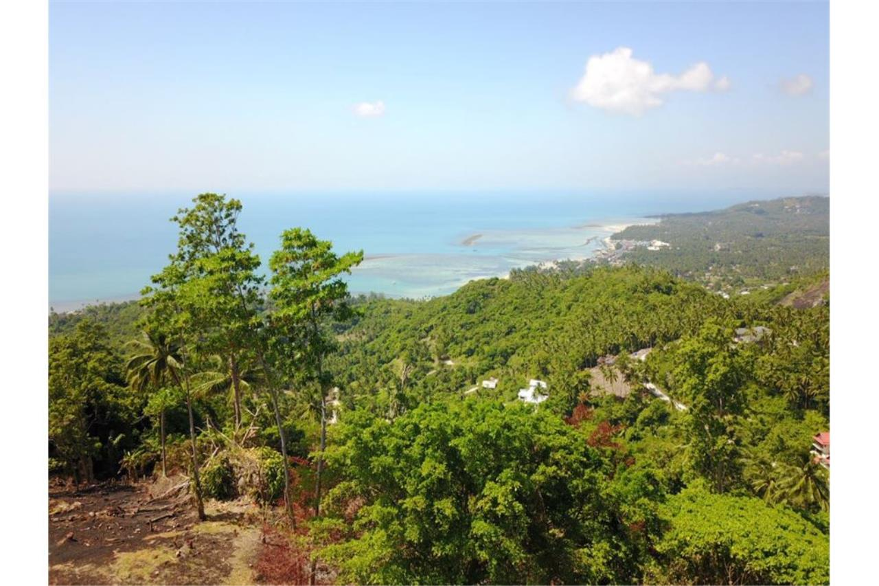 RE/MAX Island Real Estate Agency's 180 degrees sea view land for sale in Lamai 4