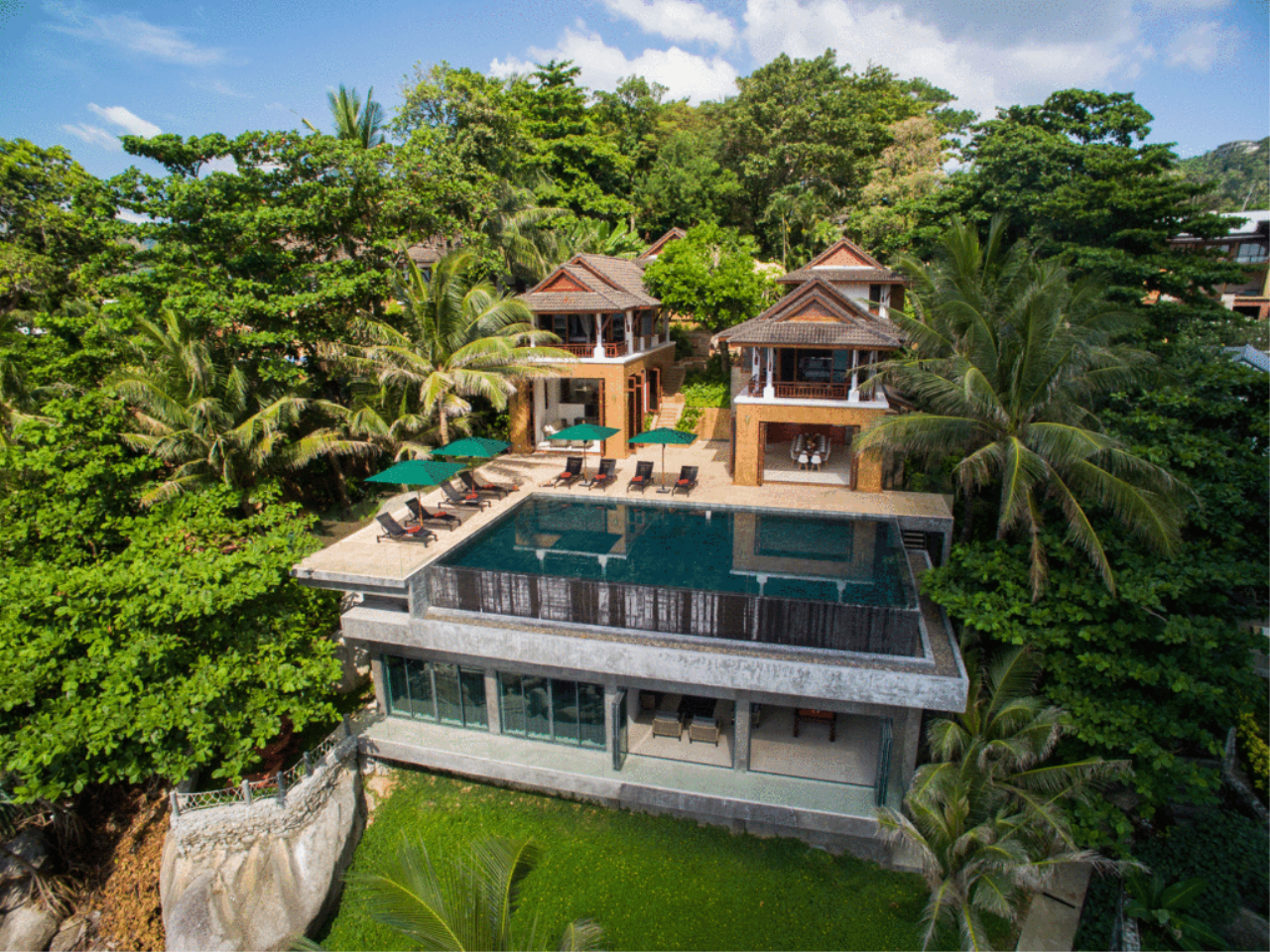 REAL Phuket  Agency's Villa Sunyata - Magnificent 8-Bedroom Oceanfront Villa in Kata 4