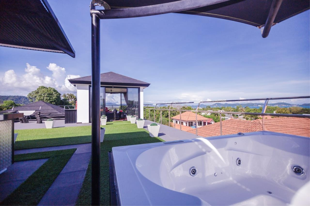 REAL Phuket  Agency's The Club Residence - 7-Bedroom Designer Pool Villa with Sea View Terrace in Saiyuan 7