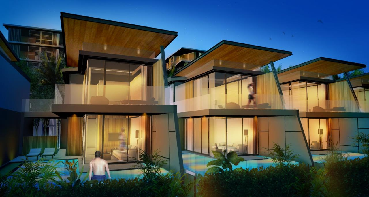 REAL Phuket  Agency's The Beachfront - New 2 & 3-Bedroom Pool Villas overlooking Chalong Bay 1