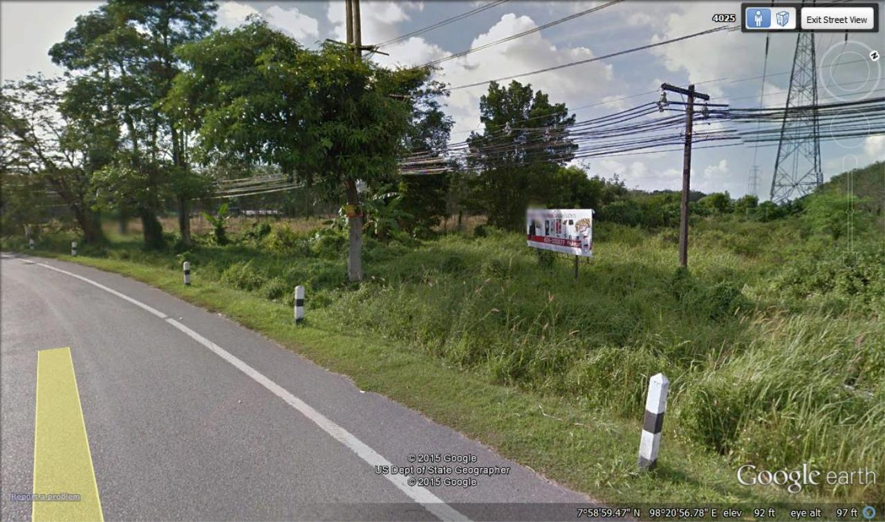 REAL Phuket  Agency's 20 Rai of Land with Main Road Access near Heroines Monument 3
