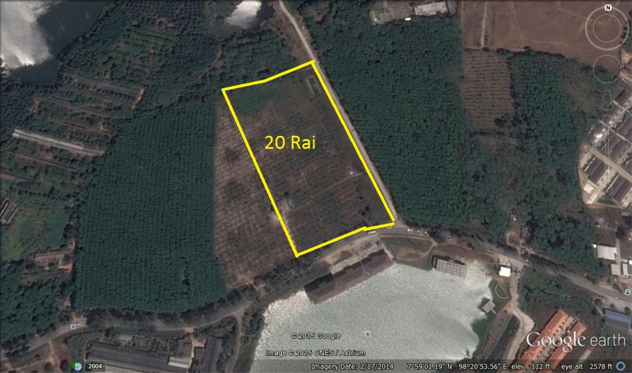 REAL Phuket  Agency's 20 Rai of Land with Main Road Access near Heroines Monument 2