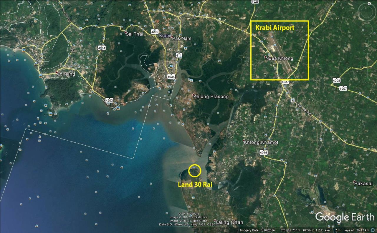 REAL Phuket  Agency's Krabi - 30 Rai Oceanfront Development Land 3