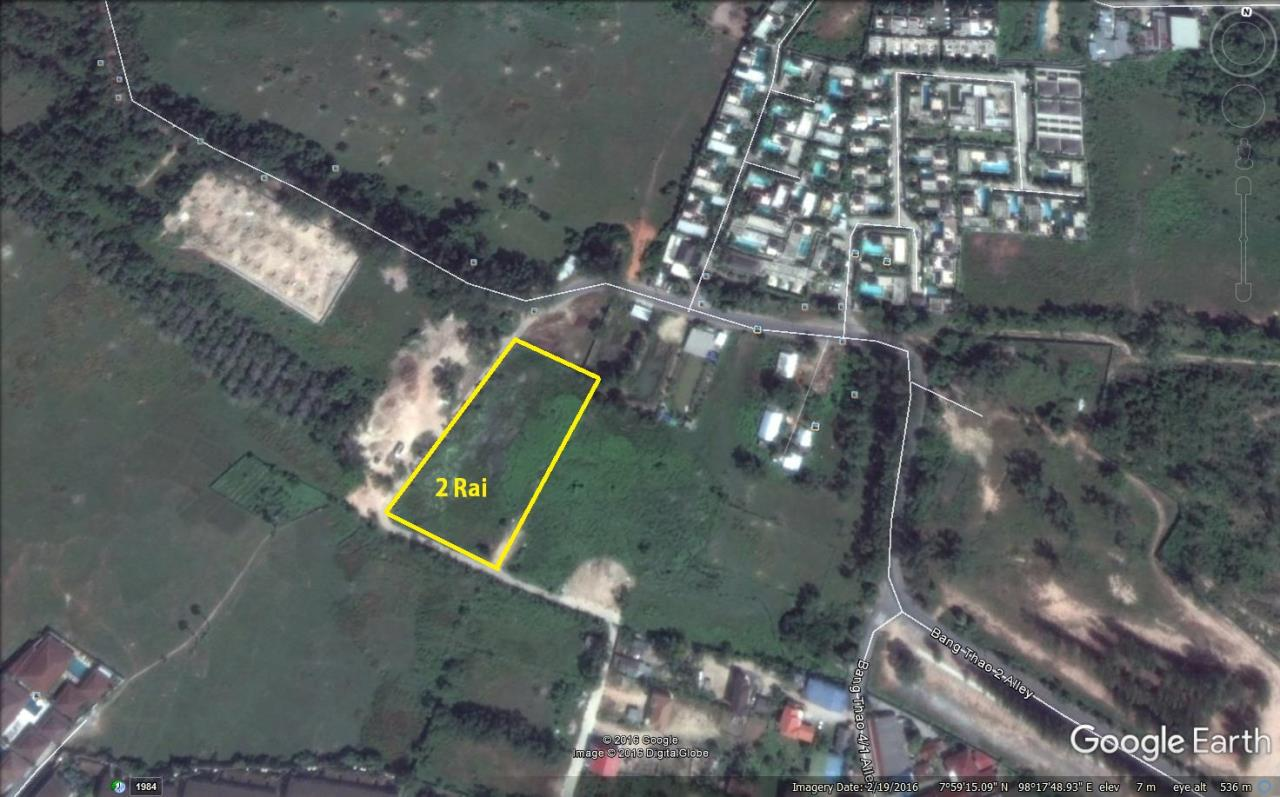 REAL Phuket  Agency's 2 Rai Flat Development Land near Bang Tao Beach 2