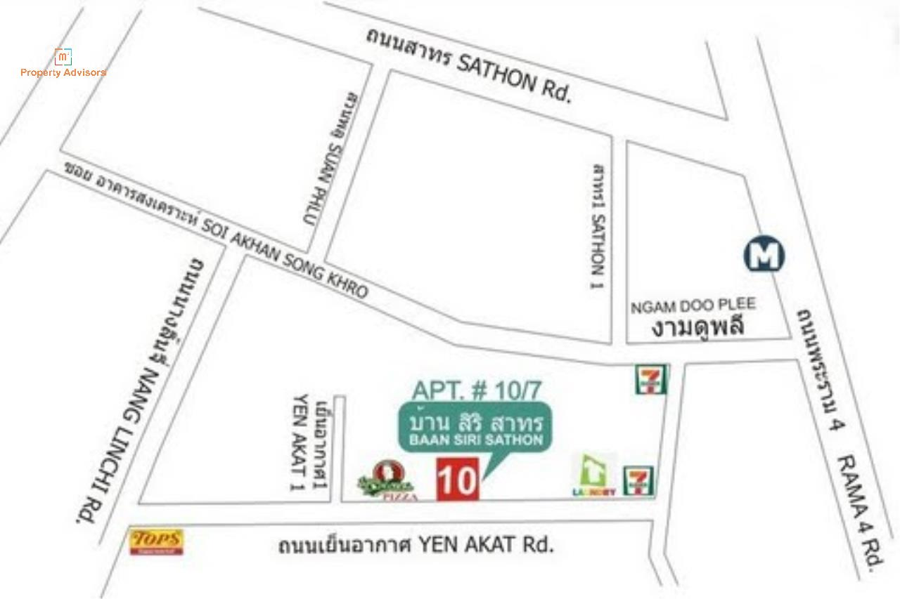 m2 Property Advisors Agency's Baan Siri Sathorn Yenakard  15