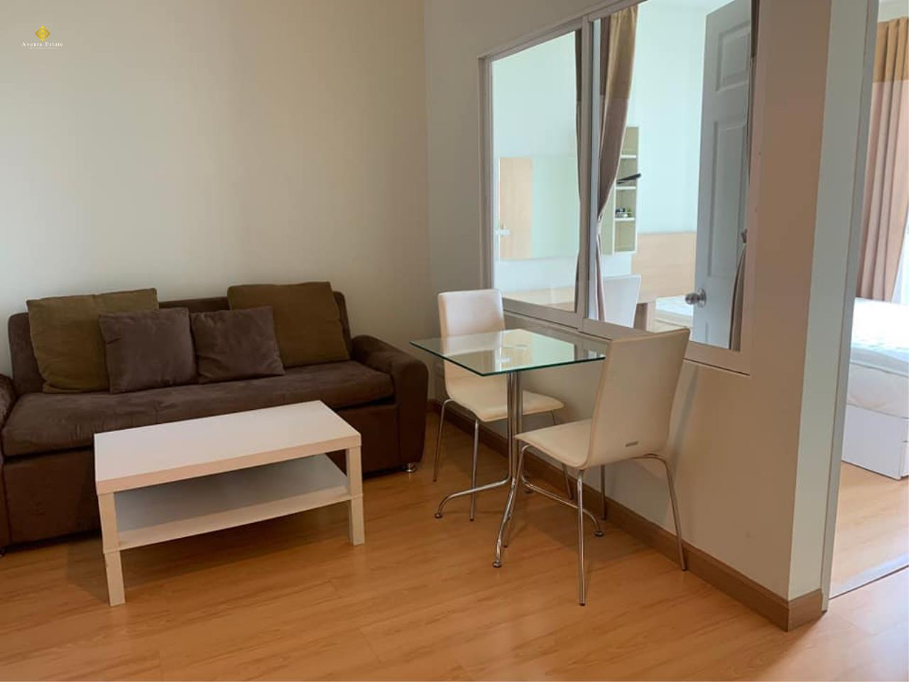 Agent - Lalisa Agency's For rent, Condo Life @ Ratchada. Sutthisan 30 sqm. Next to MRT Sutthisan. Fully furnished. 1bed 1 bath floor 6 4