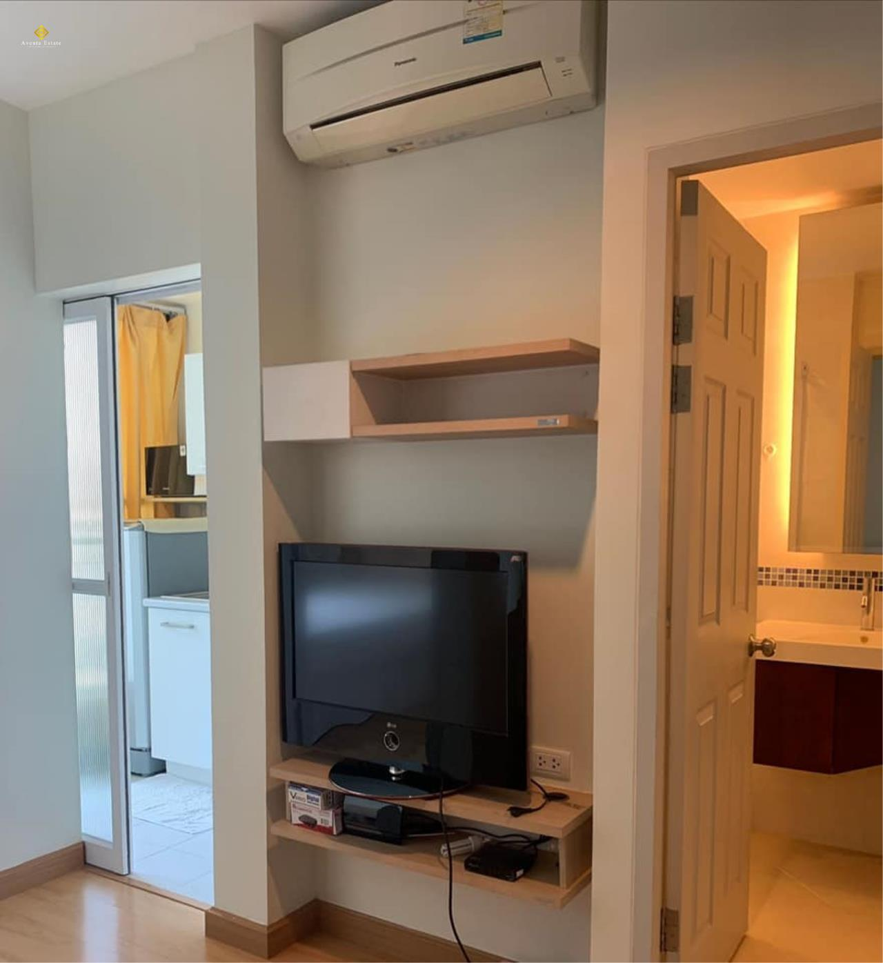 Agent - Lalisa Agency's For rent, Condo Life @ Ratchada. Sutthisan 30 sqm. Next to MRT Sutthisan. Fully furnished. 1bed 1 bath floor 6 3